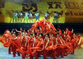 图文:跆拳道亚锦赛开幕 舞蹈《圣火之歌》