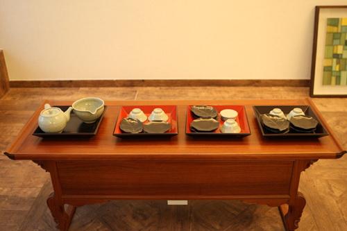 韩国文化院茶艺展区