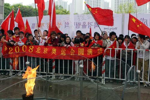 这个火种是1988年汉城奥运会的火种,今天北京奥运会火种将会在这里进行展示
