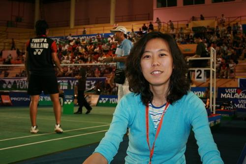 陈书佳在亚锦赛赛场