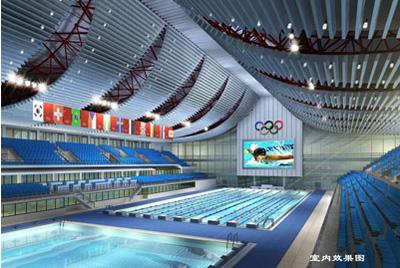 原有主要建筑是体育场,体育馆,英东游泳馆,曲棍球场和综合业务楼,总