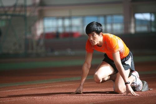刘翔为奥运整装待发