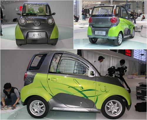 九、长城欧拉   长城欧拉3门两座小型轿车,外观时尚、内饰高清图片
