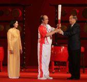 图文:胡志明市圣火传递 城市庆典现场