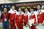 图文:亚锦赛中国女花团体折桂 中国女子花剑队