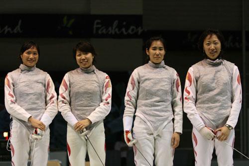 图文:亚锦赛中国女花团体折桂 中国四朵金花