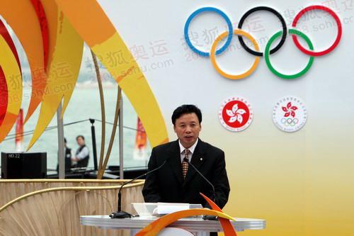 北京奥组委执行副主席杨树安致辞