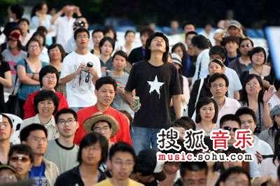 首届杭州西湖现代音乐节现场 歌迷的力量