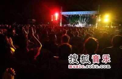 首届杭州西湖现代音乐节现场 梦幻舞台