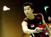 图为:林丹奥运对手陶菲克 印尼天才比赛英姿