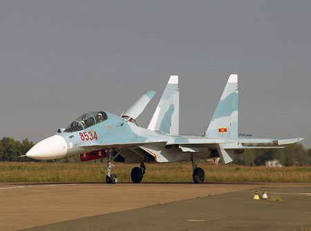 越南购进苏-30MK战机提升空军战力