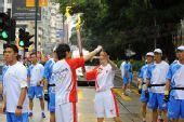 组图:香港圣火传递星光熠熠 香港男歌手古巨基