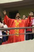 图文:[中超]上海2-0河南 河南球迷现场助阵