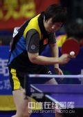 图文:乒乓球超级明星热身赛 范瑛稳健接发球