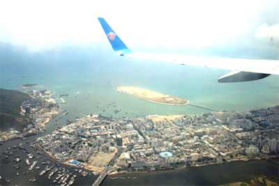 俯瞰三亚凤凰岛
