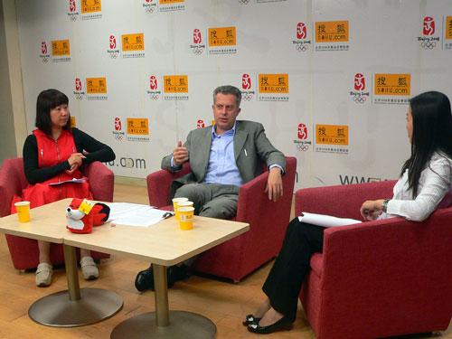 意大利驻华使馆文化专员Norberto Steinmayr诺贝托做客搜狐出国嘉宾演播室