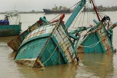 缅甸遭强热带风暴袭击 受灾现场图