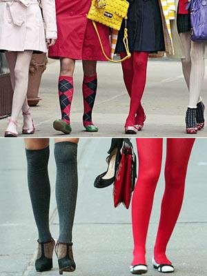 各种款式的袜子绝对是时下的扮靓重点