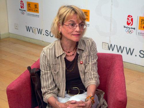 瑞士驻华使馆教育处副主任Christine kyburz吕丽婷做客搜狐出国演播室