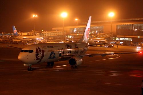 包机抵达广州新白云机场