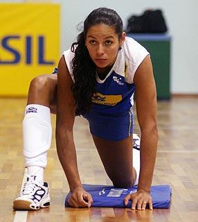 巴西女排训练中