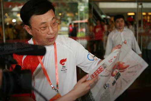 广州日报社社长 戴玉庆  奥运官网记者 张锦 摄