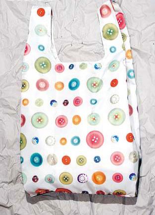 Rooshopper彩色钮扣图案Tote Bag $229(B)