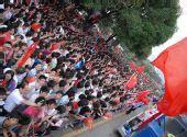 组图:奥运圣火在广州传递 现场摩肩接踵的人潮