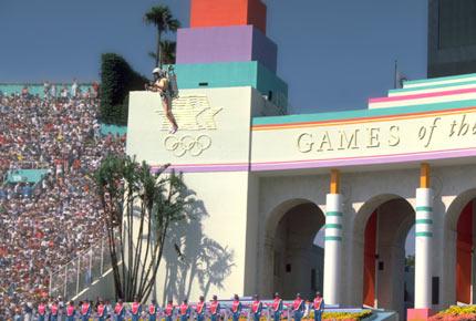 资料图:1984年洛杉矶奥运会开幕式表演