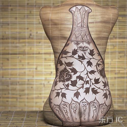 里人体人体艺术_人体彩绘艺术:明代花瓶.