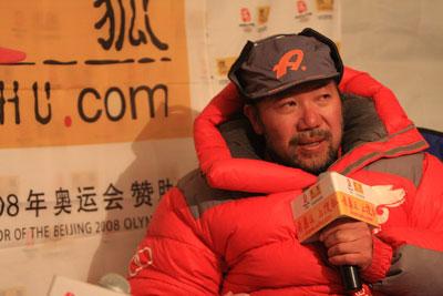 他已经成为中国登山实力、智慧、辉煌业绩的标志
