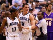 图文:[NBA]湖人不敌爵士 裁判劝开普莱斯