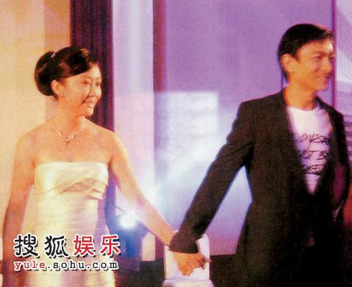 朱丽倩胞妹朱丽华大婚,刘德华牵着朱丽华