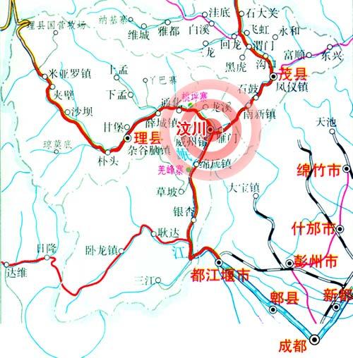图文:汶川地震公路抢通示意图图片