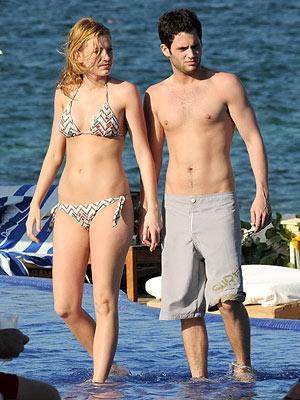美剧《绯闻女孩》的男女主角 Blake Lively和Penn Badgley也是现实生活中的情侣
