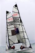 图文:参加SKUD18级比赛的帆船在比赛中