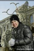 图文:世界第一休闲生活展示 第一也怕冷