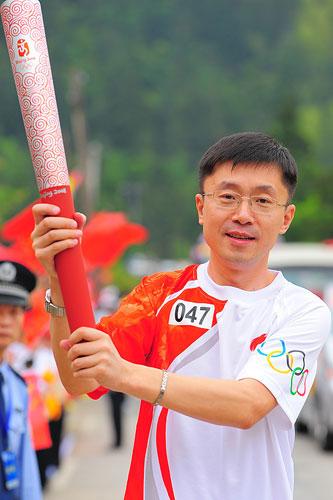 搜狐首席运营官龚宇传递井冈山第47棒