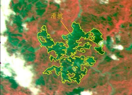 图2  震后安县CCD数据(2008年5月14日)