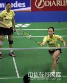 图文:杨维/张洁雯1-2负韩组合 上前放小球