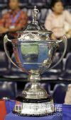 图文:汤姆斯尤伯杯奖杯 汤姆斯杯正面