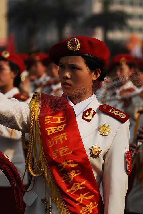 江西师范大学帅气的女仪仗队