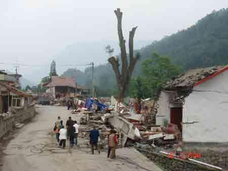 昔日繁华的街道已成废墟
