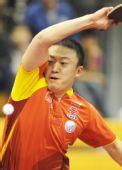图文:中国赛男单第一轮战况 马琳正手奋力挥拍