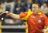 图文:中国赛男单第一轮战况 马琳拼尽全力