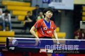 图文:中国赛女单第一轮战况 表情懊丧不已