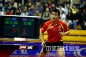图文:中国赛男单第一轮战况 王皓王者气势