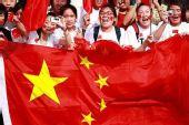 组图:奥运圣火温州传递 红色海洋为中国加油