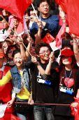 组图:奥运圣火温州站 市民热情现场祝福奥运