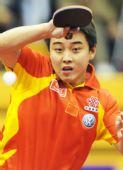 图文:中国赛男单1/8决赛 王皓认真表情很可爱